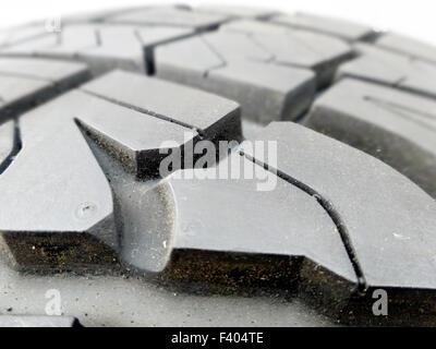tire tread closeup in a tire shop - Stock Photo