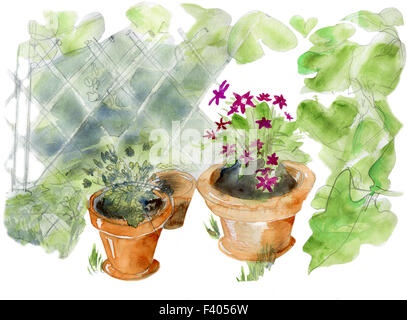 Garden pots - Stock Photo