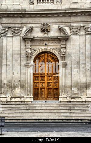 Church entrance - Stock Photo