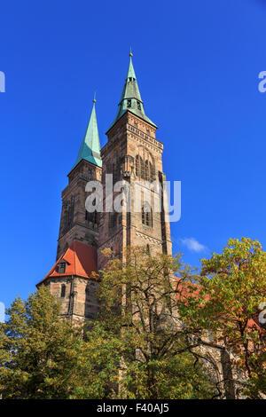 Saint Sebaldus church in Nuremberg - Stock Photo