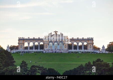Gloriette Schonbrunn in Vienna at sunset - Stock Photo