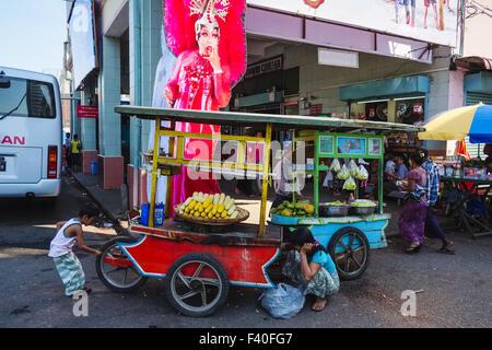 Street scene, Yangon, Myanmar - Stock Photo