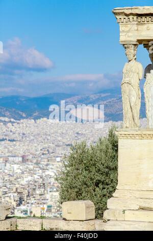 Concordia temple Acropolis in Athens Stock Photo