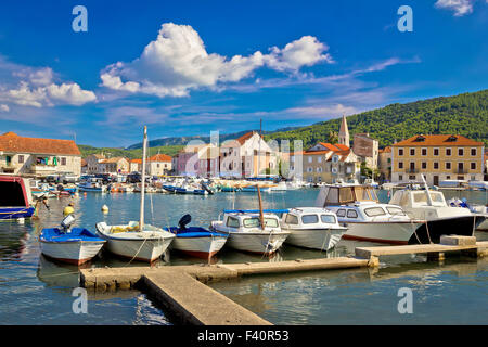 Stari Grad on Hvar island - Stock Photo