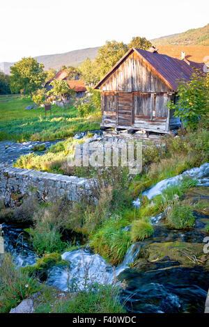 Spring of Gacka river in Lika - Stock Photo