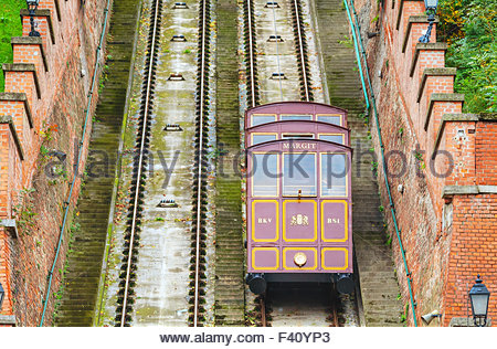 Budapest Castle hill funicular - Stock Photo