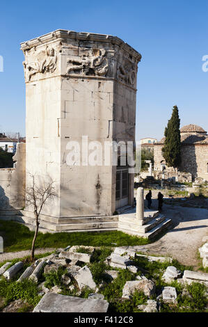 Tower of the Winds in Athens, Greece - Stock Photo
