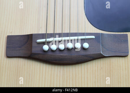 strings on the guitar - Stock Photo