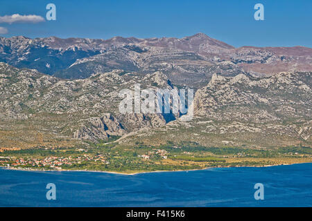 Paklenica canyon National park view - Stock Photo