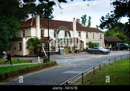 The Cowherds Public House on Southampton Common - Stock Photo
