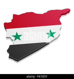 Map Syria - Stock Photo