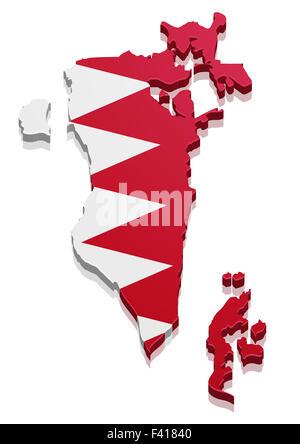 Map Bahrain - Stock Photo