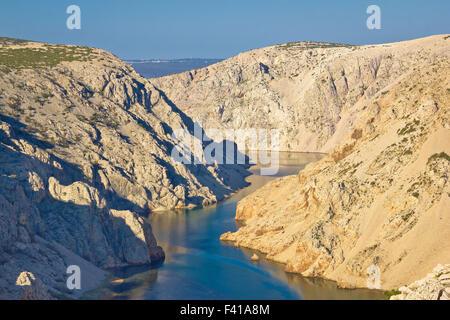 Canyon of Zrmanja river in Croatia - Stock Photo