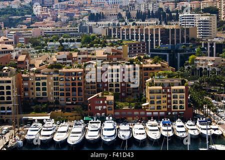 Monte Carlo bay in Monaco - Stock Photo