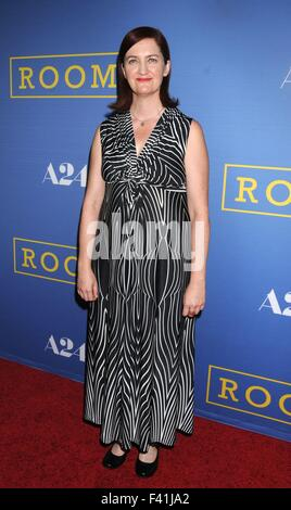 Los Angeles, California, USA. 13th Oct, 2015. Writer EMMA DONOGHUE at the 'Room' Los Angeles Premiere' held at Pacific - Stock Photo
