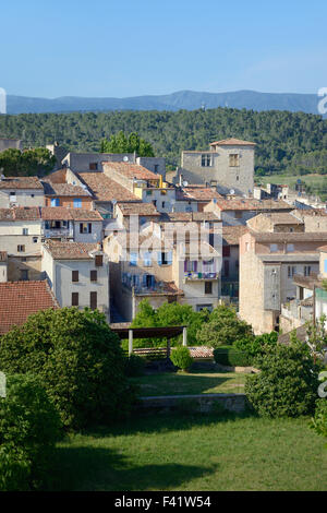 View over the Medieval Village of Carcès in the Var Département Provence France - Stock Photo