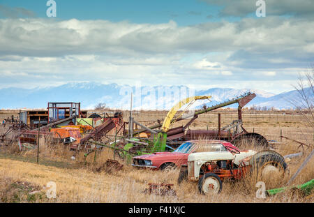 Vintage salt lake in Salt Lake City Utah - Stock Photo
