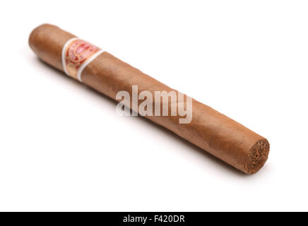 Cuban cigar isolated on white - Stock Photo