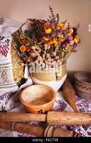 Still life of vintage household items - Stock Photo