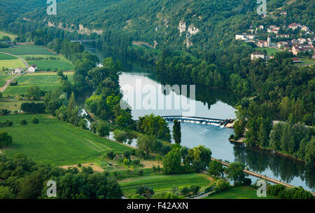 the River Lot at St Gery, Quercy, France - Stock Photo