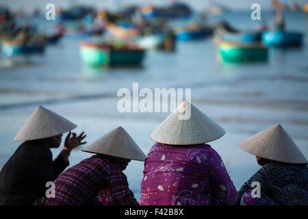 Mũi Né fishing village, Bình Thuận Province, Vietnam - Stock Photo