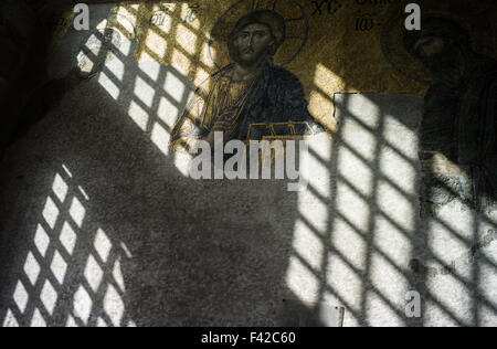 Mosaic in Santa Sofia Mosque - Stock Photo