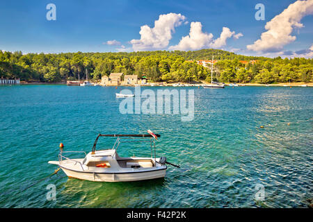Stari Grad on Hvar island waterfront view - Stock Photo