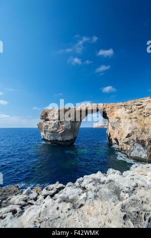 Azure Window formation on Gozo - Stock Photo