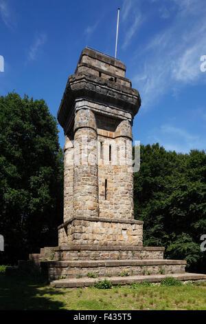 Reichskanzler Otto von Bismarck, Bismarckturm auf den Suechtelner Hoehen am Hohen Busch in Viersen, Niederrhein, - Stock Photo