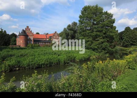 Englischer Landschaftsgarten, Schlosspark und Wasserschloss Herten, Ruhrgebiet, Nordrhein-Westfalen, im Schloss - Stock Photo