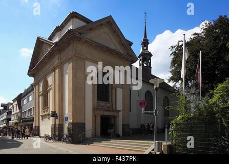 Katholische Gymnasialkirche des Gymnasium Petrinum, ehemals Klosterkirche der Franziskaner in Recklinghausen, Ruhrgebiet, - Stock Photo
