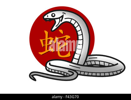 Chinese Characters For The Zodiac Sign Snake With English