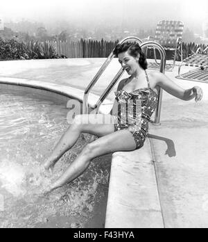 JANE RUSSELL (1921-2011) US film actress about 1943 - Stock Photo