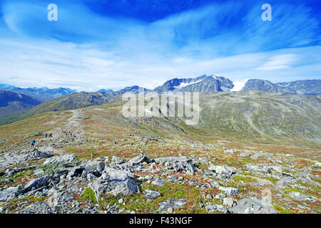 Besseggen Ridge in Jotunheimen National Park - Stock Photo