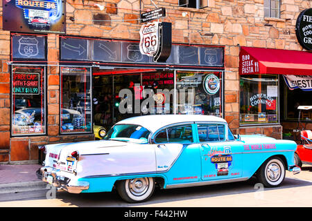 Route 66 Gift shop on E Bill Williams Ave Route 66  in Williams Arizona, the last Route 66 city to be bi-passed - Stock Photo