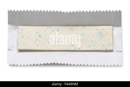chewing gum isolated on white background with clipping paths - Stock Photo