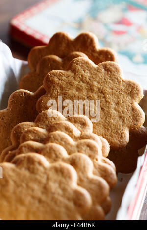 Pepparkakor (Swedish Ginger Cookies) - Stock Photo