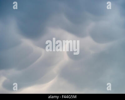Mamma cumulonimbus, pillow cloud formation, Leicestershire, England, UK - Stock Photo