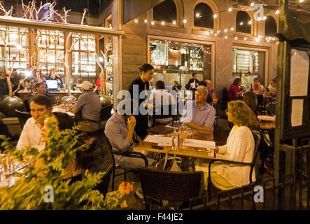 downtown restaurant Asheville North Carolina - Stock Photo