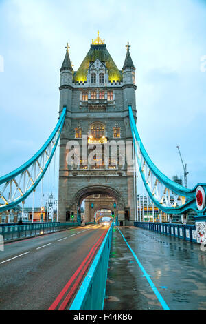 Tower bridge in London, Great Britain - Stock Photo