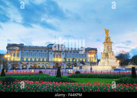 Buckingham palace in London, Great Britain - Stock Photo
