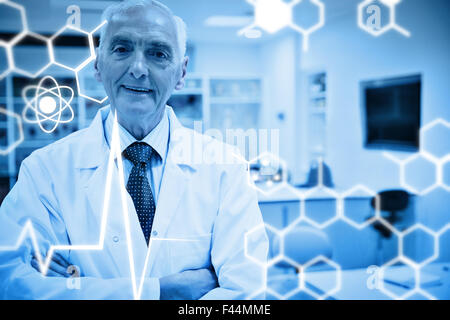 Composite image of science graphic - Stock Photo
