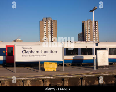 Welcome to Clapham Junction - Britain's Busiest Railway Station - Stock Photo