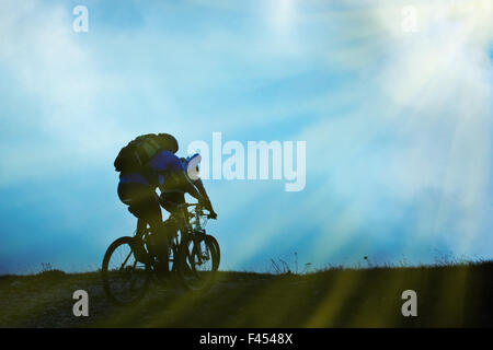 Couple on bicycles - Stock Photo