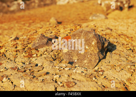 Desert martian landscape. - Stock Photo