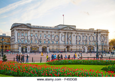 Buckingham palace in London, Great Britain - Stock Photo