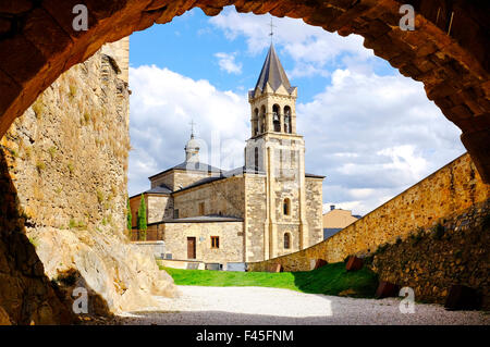 Church of San Andrés, Ponferrada,Castile and León; Spain - Stock Photo