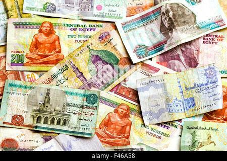 Egyptian banknotes - Stock Photo