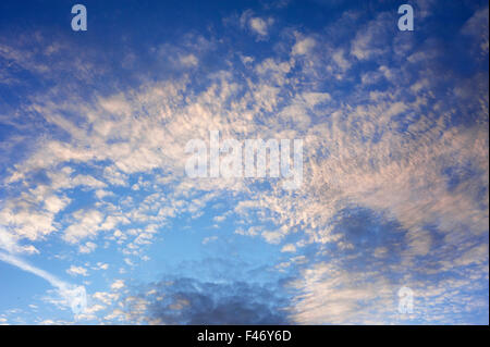 Small fluffy clouds (Cirrocumulus), Tyrol, Austria - Stock Photo