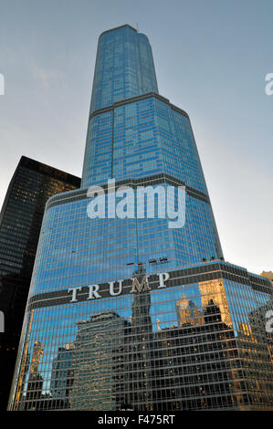 Trump Tower, Chicago, Illinois, United States of America - Stock Photo